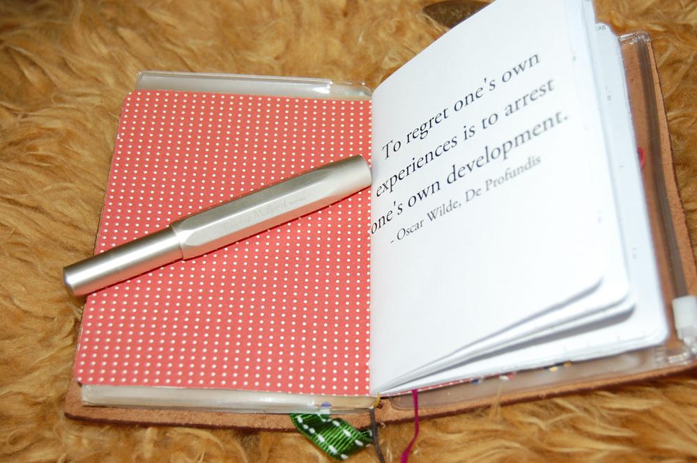 Kaweco AL Sport (champagner ) & selbstgemachte Notizbücher fürs Midori Traveler's Notebook
