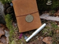 "Midori Traveler's Notebook: Limited ""Traveler's Star Edition"" & Kaweco AL Sport (champagner)"