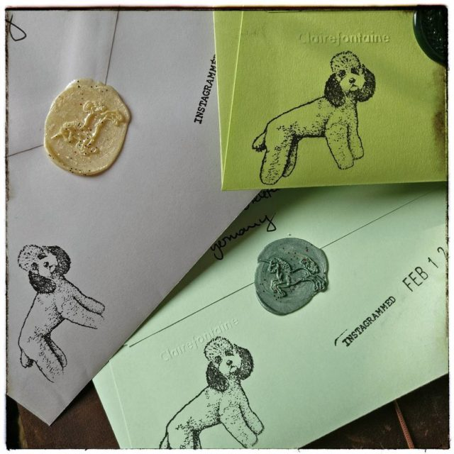 InCoWriMoTrio incowrimo  clairefontaine stamp waxseal unicorn stamptitude udig hellip
