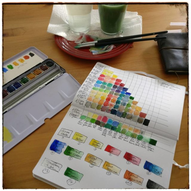 Farbprobierereien  winsorandnewton watercolor colorchart sketchingnow sketchingnowfoundations